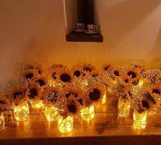 Hottest Screen 39 Sunflower Wedding Ideas and Wedding Decorations . - Hottest Screen 39 Popular Sunflower Wedding Ideas and Wedding Decorations An easy way to check is t - Diy Wedding, Rustic Wedding, Dream Wedding, Wedding Day, Perfect Wedding, Party Wedding, October Wedding, Fall Wedding Themes, Firefly Wedding