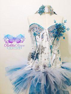 Snow Queen costume / rave attire / rave wear by RolitaRaveCouture, $158.00