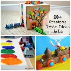 T is for train! 20+ Creative Train Ideas for Kids | Spoonful