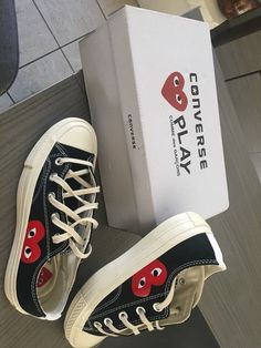 brand new cdg x converse shoes size will ship for free Cdg Converse, Outfits With Converse, Custom Converse, Dream Shoes, New Shoes, Vans Shoes, Sneakers Fashion, Fashion Shoes, Aesthetic Shoes
