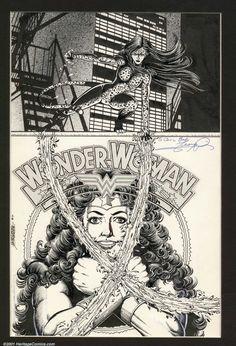 Original Comic Art:Covers, George Perez - Original Cover Art for Wonder Woman (2nd Series) #9(DC, 1987). The villainous Cheetah shows her true feeling... Image #1