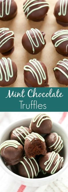 These Mint Chocolate Truffles only require 3 ingredients and can be made using just the microwave. The perfect treat for mint chocolate lovers!
