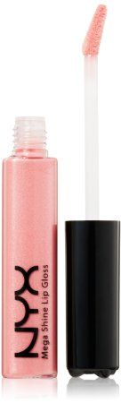 NYX Mega Shine Lip Gloss in Salsa. Shimmery baby pink perfect for topping off a pink nude lipstick.