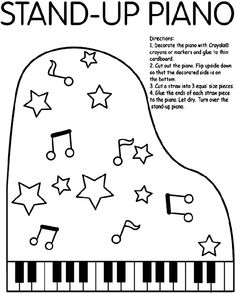 free piano keys coloring pages - photo#25