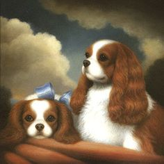 Google Image Result for http://www.oilpaintingboutique.com/uploadfile/Dog-Painting-nbsp-gt-nbsp-Shop-By-Subjects_182/360%2520Two%2520Cavalier%2520King%2520Charles%2520Spaniels%2520Dog%2520Oil%2520Painting%2520by%2520Christine%2520Merrill.png