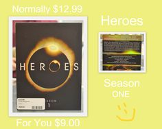 People's Choice Cash and Pawn/Electronics... Complete Season 1 of Heroes that is normally 12.99 but for you it's 9.00. We can take payment over the phone and ship it for you if needed/