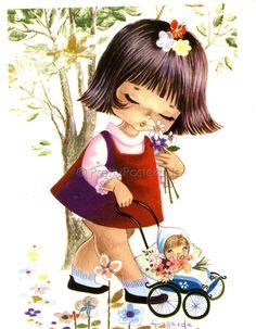 Nina paseando muñeca. Ilus.Gallarda