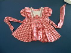 Vintage Checkered  Baby Dress