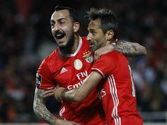 """Mitroglou e Jonas. Dupla """"mortífera"""" do SL Benfica."""