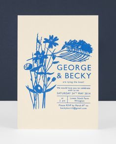 Celebrating the wonderful English  countryside in gorgeous blue for G + B