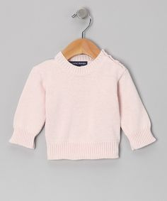Take a look at this Loralin Design Light Pink Sweater - Infant on zulily today!