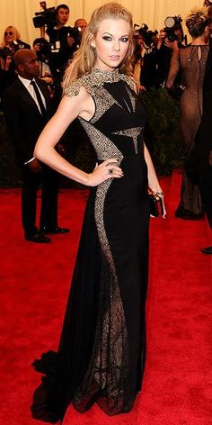Taylor Swift // met gala 2013 .. she annoys me but the girl looks good!