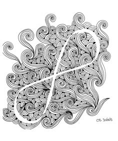 Free Coloring Page Zentangle By Cathym 13 Let Go Exclusive Cathy M See The Facebook Original W