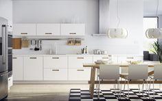 METOD keuken | #IKEA #IKEAnl #Nordische #wit #inspiratie #keukensysteem #MÄRSTA #geïntegreerde #handgreep