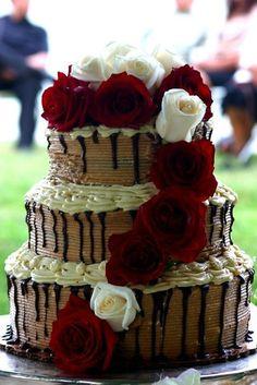 Unusual cake.  Pretty though