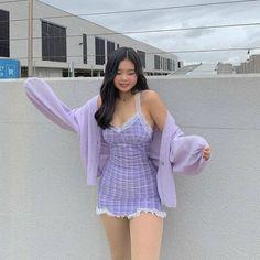 Girls Fashion Clothes, Teen Fashion Outfits, Retro Outfits, Mode Outfits, Girly Outfits, Cute Casual Outfits, Mode Ulzzang, Korean Outfits, Kawaii Fashion