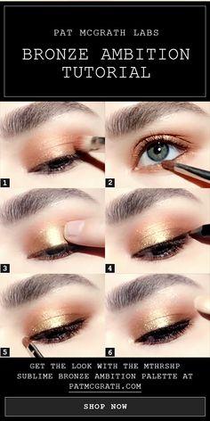 Bronze smokey eye makeup tutorial created using the NEW Spring 2018 Eyeshadow Pa. - Women Style World Eye Makeup Glitter, Eye Makeup Tips, Makeup Inspo, Makeup Inspiration, Beauty Makeup, Beauty Tips, Beauty Hacks, Smokey Eye Makeup Tutorial, Eyeliner Tutorial
