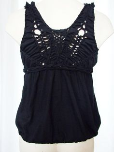 Black braided top  Sexy summer party Open Back by YudelevitzEco, $35.00