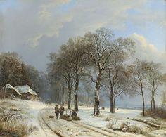 Winter Landscape, Barend Cornelis Koekkoek, 1835 - 1838