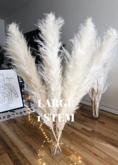 PAMPAS GRASS 3 pcs Fluffy White Large Dried Cortaderia Selloana Rustic Wedding Decor Boho Home Decor Bohemian Plant Valentine Gift – babyname Grass Decor, Dry Plants, Boho Home, Pampas Grass, Natural Forms, Bohemian Decor, Rustic Wedding, Boho Wedding, Wedding White
