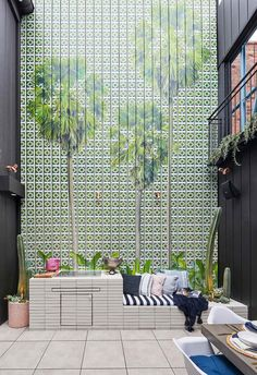 Jesse and Mel wowed the judges with their mosaic tile feature wall with Mitch and Mark coming a close second. Revisit all The Block 2019 courtyard room reveals here.