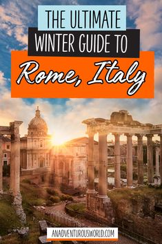 Are you thinking of visiting Rome in winter? From seeing the Sistine Chapel to the Spanish Steps, these are the best things to do in Rome in winter! Italy Travel Tips, Rome Travel, Travel Destinations, Travel Europe, Rome Winter, Italy Winter, Winter Sun, Winter Holiday, Backpacking Europe