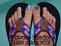 """@TawdryTerrier """"Land Shark Bite"""" - 2 bottles available at https://www.etsy.com/shop/TawdryTerrier #nailpolish #indienailpolish #tawdryterrier"""