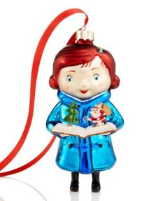 """Yes Virginia Christmas Ornament $4.49 Show you believe in all the magic of Christmas with an adorable Yes, Virginia ornament featuring the little girl who famously asked, """"Is there a Santa Claus?"""""""