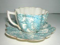 * ANCIENNE TASSE A CAFE PORCELAINE ANGLAISE CHAPMAN