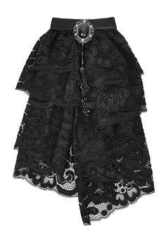 Nouveau produit : Jabot noir en dentelle avec gemme gothique élégant vampire…