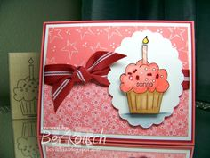 Smile Cupcake! by BevMom - Cards and Paper Crafts at Splitcoaststampers