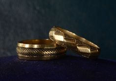 1940-50s Snakeskin Engraved Wide Band, 14K, Size 6.5, $4551960 Geometric Engraved Band, 14K, Size 9 from eerie basin