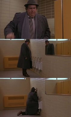 Using tiny urinals.   25 Things John Candy Is The KingOf