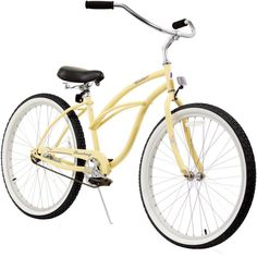 Firmstrong Women's 24'' Urban Lady Single Speed Beach Cruiser Bike, White