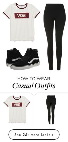 """casual"" by tbhcaylee on Polyvore featuring Vans and Topshop"