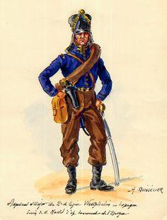 Westphalia; 2nd Line Infantry Adjutant Major, Spain 1810. by H.Boisselier.