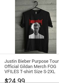 Justin Bieber purpose tour from his official site