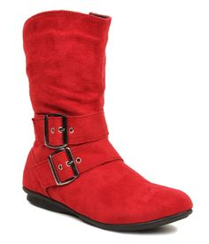 Bruno Manetti Red Flat Boots