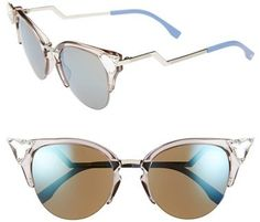 8d772e25fd681 Fendi Crystal Tipped Cat Eye Sunglasses