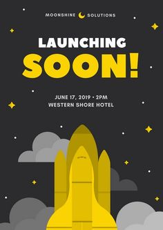 Image result for launch poster design