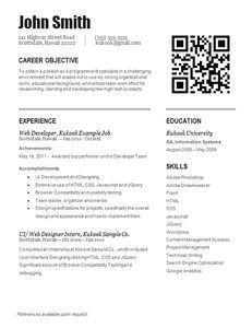 entry level student resume template that is currently set up with itweb development information - Entry Level Web Developer Resume