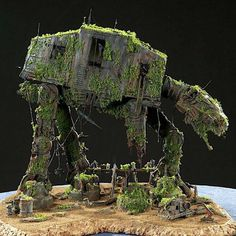 AT-AT We love how this brand new toy has been transformed into a forgotten AT AT diorama.We love how this brand new toy has been transformed into a forgotten AT AT diorama. Nave Star Wars, Star Wars Art, Star Trek, Star Wars Models, Scale Models, Scenery, Geek Stuff, Minis, Stars