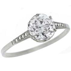 Antique GIA Certified 1.01ct Old European Cut Diamond Platinum Engagement Ring - See more at: http://www.newyorkestatejewelry.com/engagement-rings/edwardian--1.01ct-diamond-platinum-engagement-ring/23340/3/item#sthash.8mZepfVI.dpuf