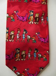Your place to buy and sell all things handmade Fred Flintstone, Hanna Barbera, Cool Ties, Neckties, Gifts For Him, Vintage Outfits, Cartoons, Things To Think About, Comics