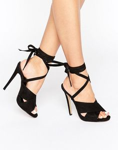 Truffle Collection | Truffle Tie Ankle Rita Heeled Sandals