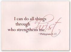 Philippians 4:13 Christian Graduation Announcement