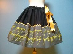 Lord Of The Rings Hobbit Skirt Geek Skirt by TootSweetSkirts, $48.00
