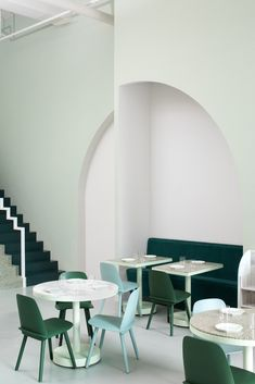 cafe design in china, the budapest cafe, pastel colors interior, wes anderson design Decoration Restaurant, Restaurant Interior Design, Design Commercial, Commercial Interiors, Design Moderne, Cafe Design, Interior Pastel, Design Scandinavian, Cafe Pictures