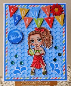 Whimsy Stamps card by Shannah Bartle using 'Summertime Sue' from Art by Mi Ran.