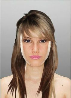 "Try On Hairstyles Beauteous Model 1"" Created Using Taaz Virtual Makeovertry On Hairstyles"